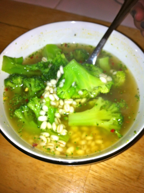 Broccoli Barley Soup