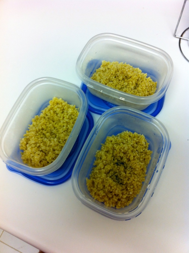 Quinoa ready for meal prep.