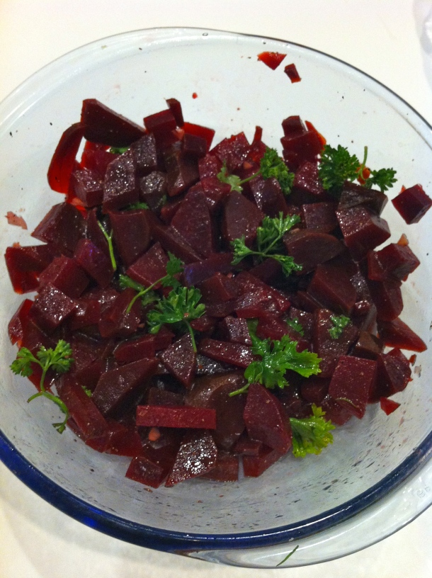 Garlic Beet Salad